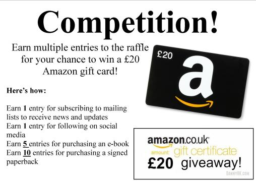 Amazon gift voucher competition poster