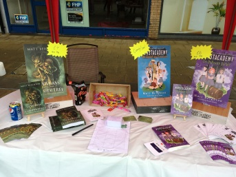 Matt Beighton Coalville Writes author book stall