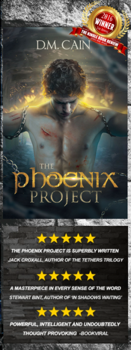 The Phoenix Project by D.M. Cain psychological dystopian thriller