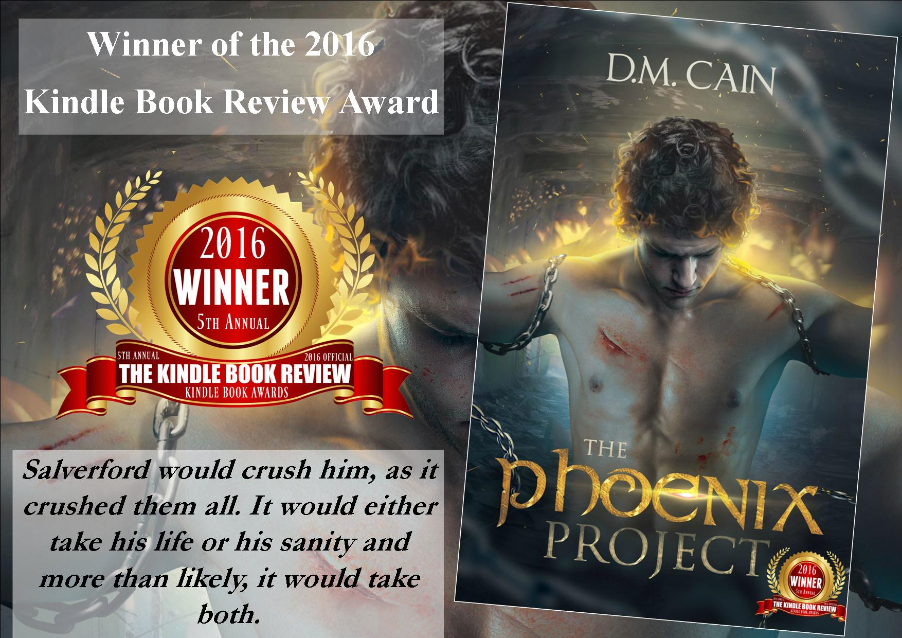 Dystopian thriller The Phoenix Project by D.M. Cain