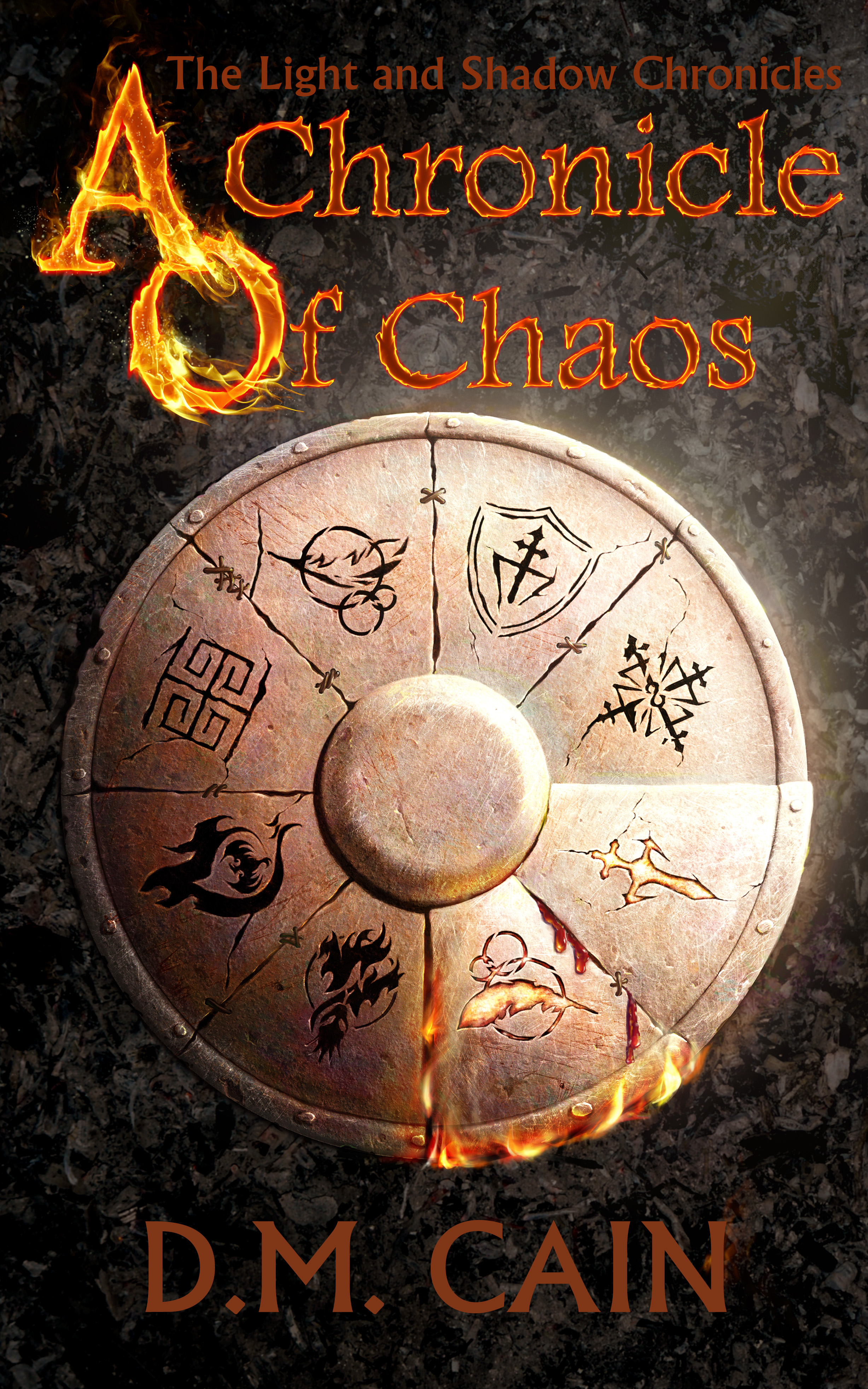 epic fantasy cover for A Chonicle of Chaos by DM Cain