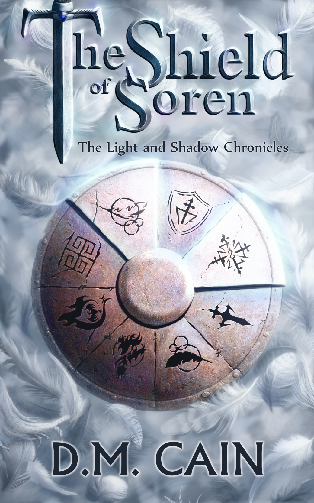 epic fantasy cover for The Shield of Soren by DM Cain