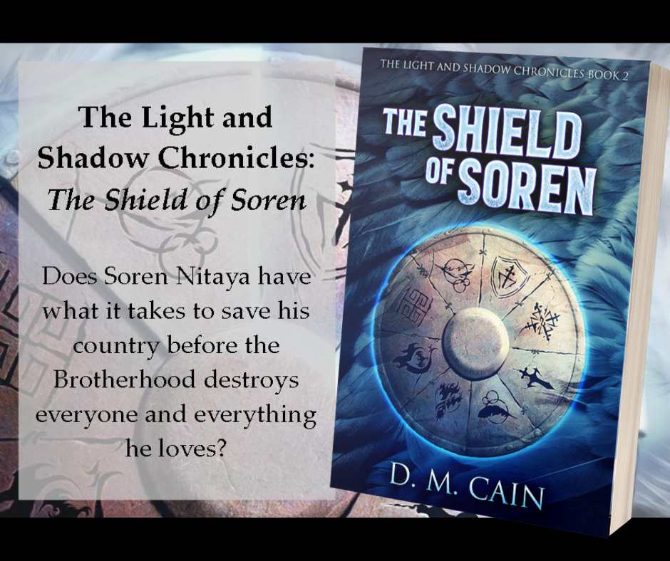 The Shield of Soren by DM Cain promotional poster