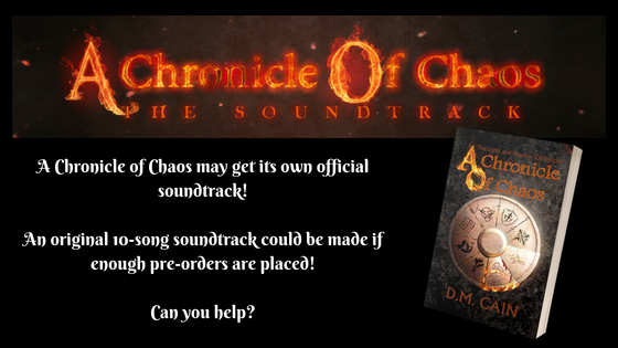 A Chronicle of Chaos soundtrack promotional banner