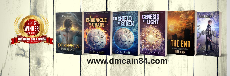 DM Cain all books banner