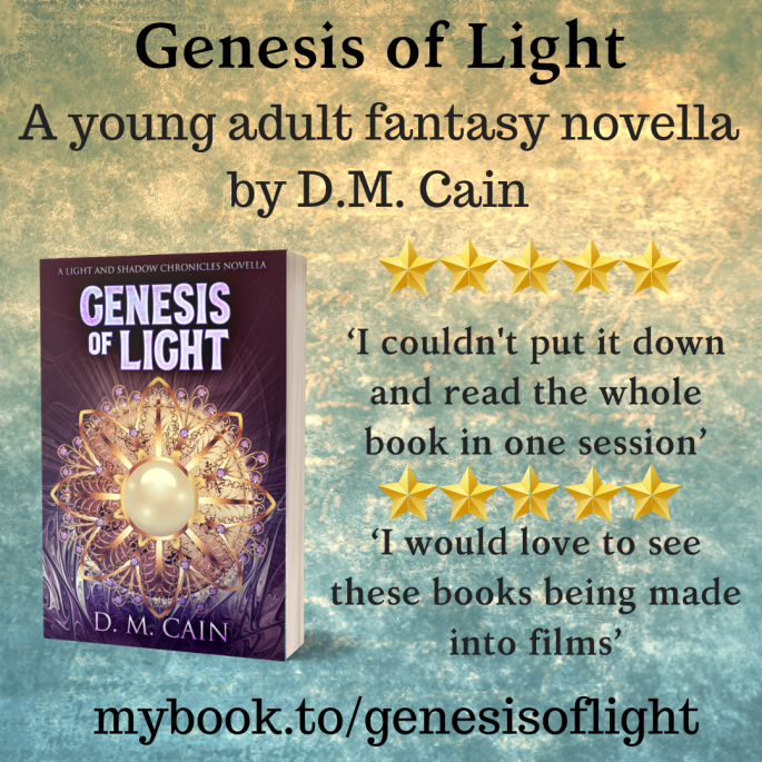 fantasy novella Genesis of Light 5 star book review poster