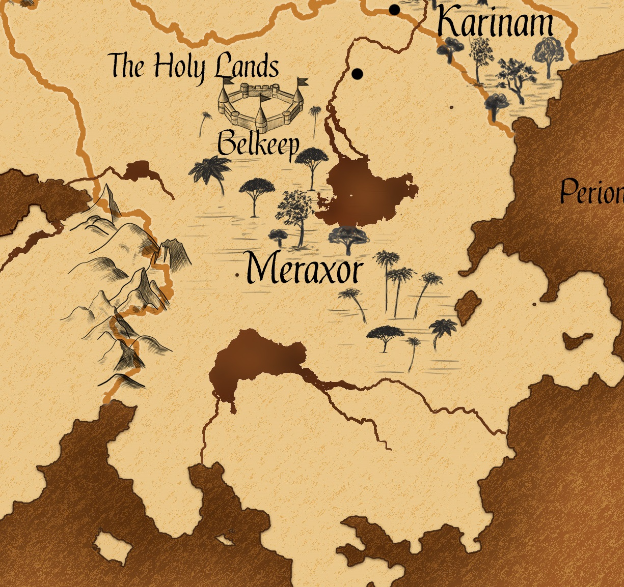 Worldbuilding: Meraxor map
