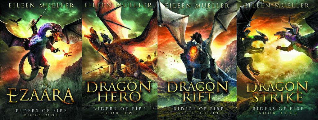 Riders of Fire by Eileen Mueller series banner