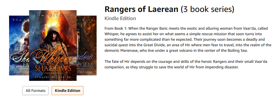 Rangers of Laerean by Tom Fallwell