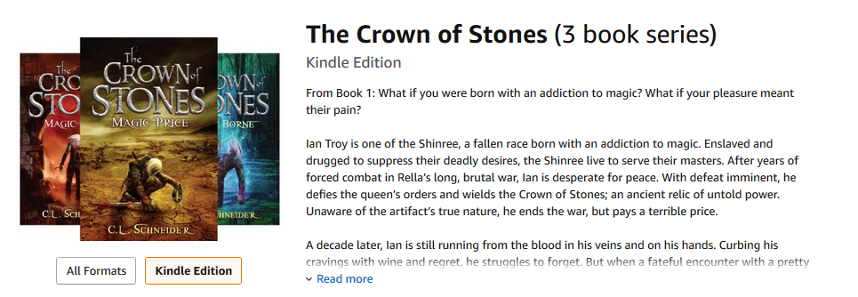 The Crown of Stones by C.L. Schneider
