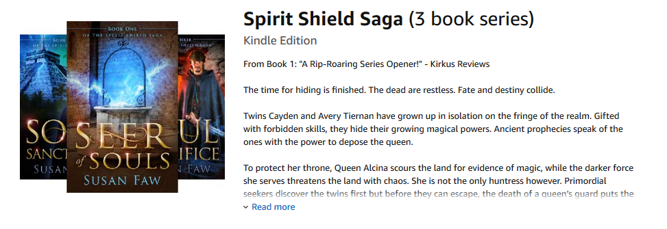 The Spirit Shield Saga by Susan Faw