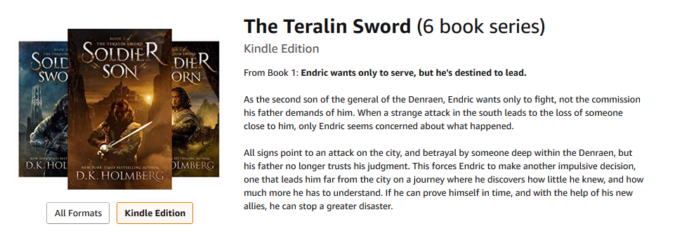 The Teralin Sword by D.K. Holmberg