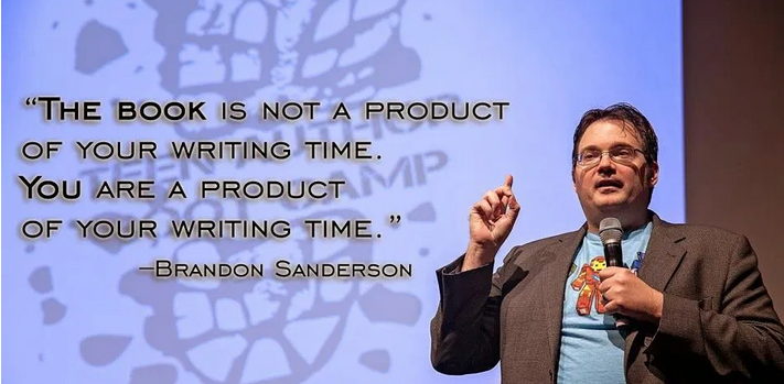 Brandon Sanderson writing advice quote