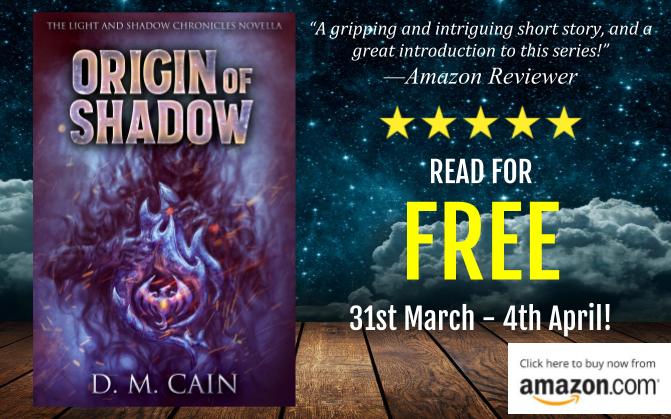 Fantasy novella Origin of Shadow free promotion