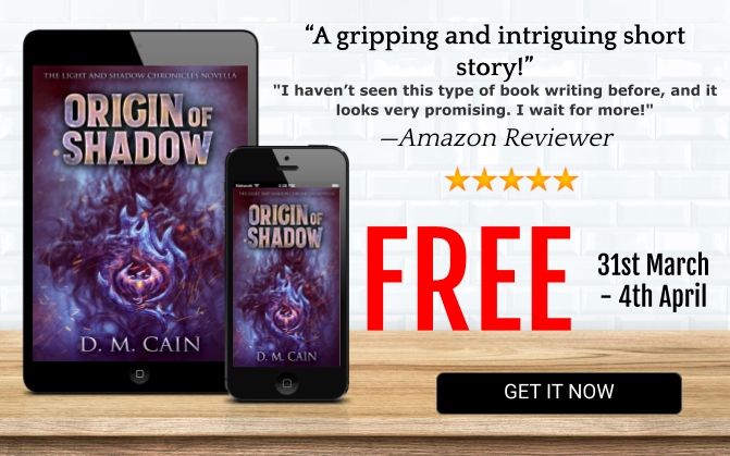 Fantasy novella Origin of Shadow free promotion