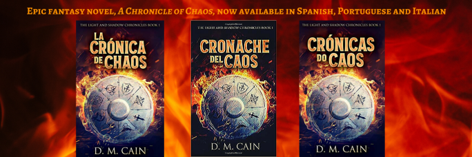 Spanish, Portuguese, Italian fantasy books DM Cain
